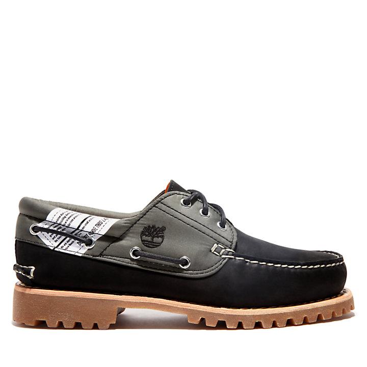 Authentics 3 Eye Boat Shoe for Men in Black-
