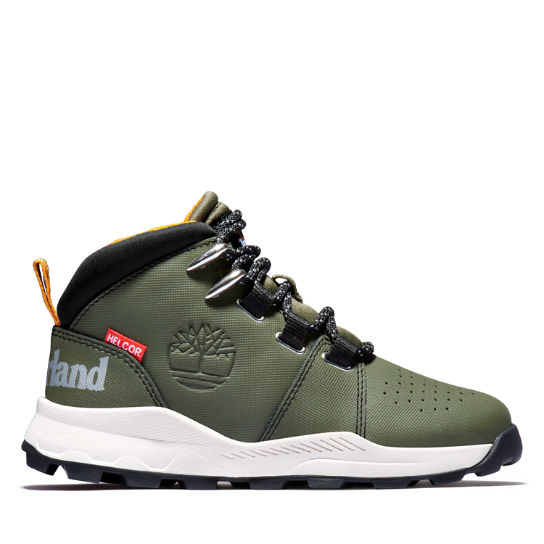 Brooklyn Lace-Up Sneaker for Junior in Green | Timberland