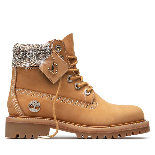 Jimmy Choo x Timberland 6-Inch Boots for Women in Yellow with Crystals | Timberland