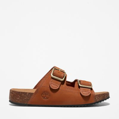 Castle+Island+Slide+Sandal+for+Youth+in+Brown
