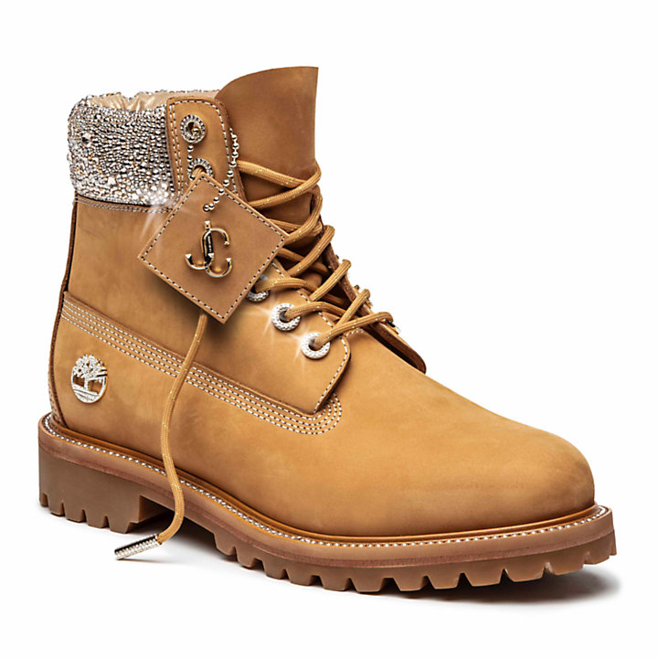 Jimmy Choo x Timberland 6-Inch Boot for men in Yellow with Crystals-