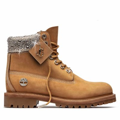 Jimmy+Choo+x+Timberland+6-Inch+Boot+for+men+in+Yellow+with+Crystals