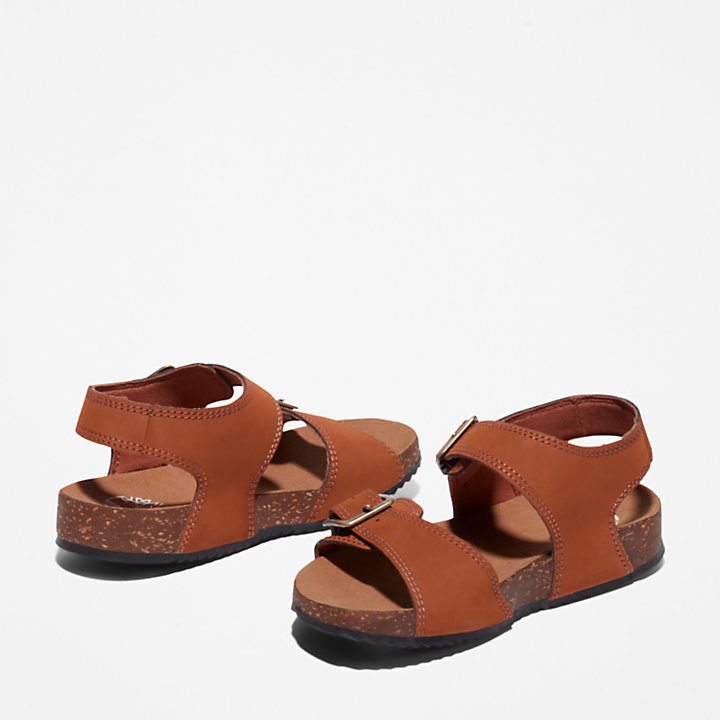 Castle Island Backstrap Sandal for Youth in Brown-