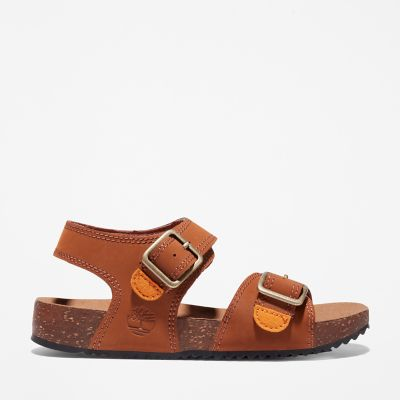 Castle+Island+Backstrap+Sandal+for+Youth+in+Brown