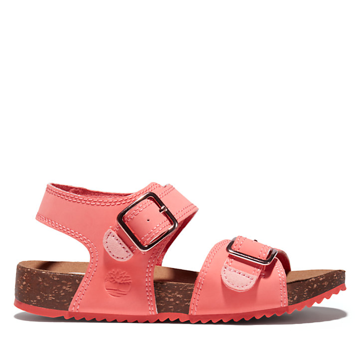 Castle Island Backstrap Sandal for Youth in Pink-