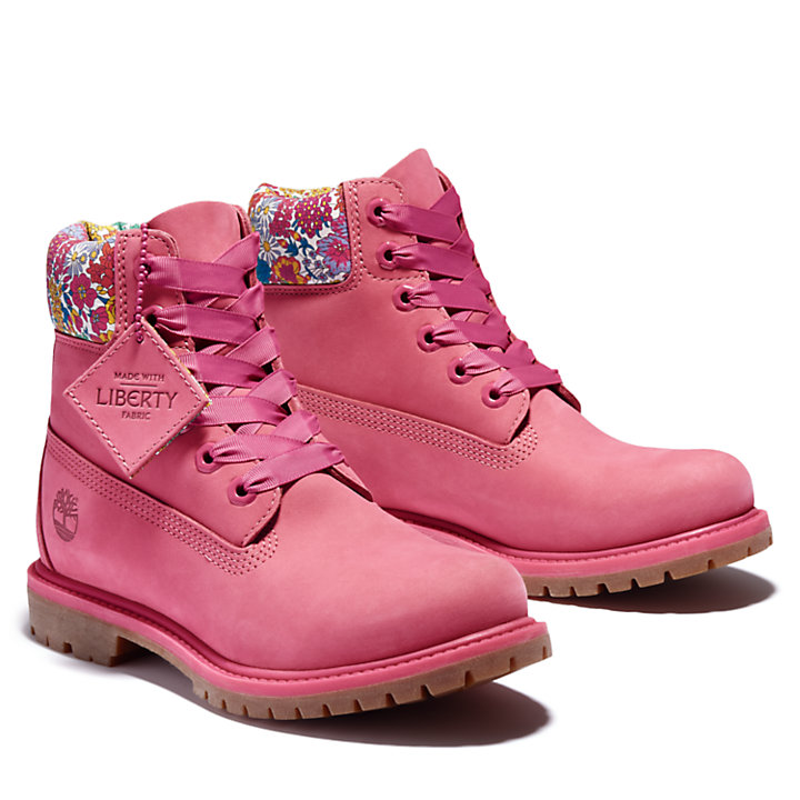 Timberland Made with Liberty Fabrics 6 Inch Boot for Women in Pink-