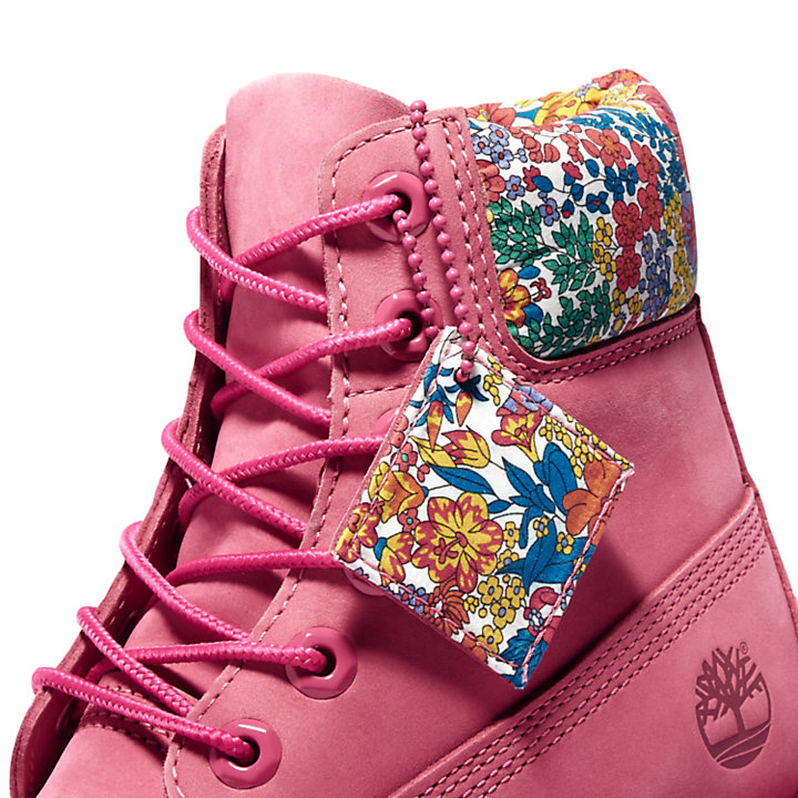 6-Inch Boot Timberland Made with Liberty Fabrics pour femme en rose-