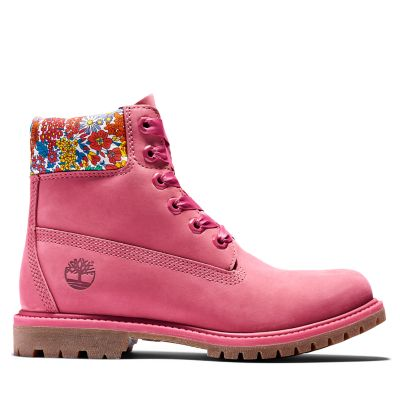 Timberland+Made+with+Liberty+Fabrics+6+Inch+Boot+for+Women+in+Pink