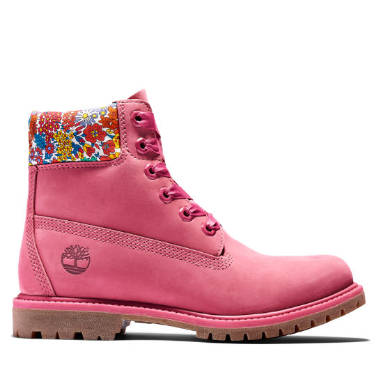 6-Inch Boot Timberland Made with Liberty Fabrics pour femme en rose | Timberland