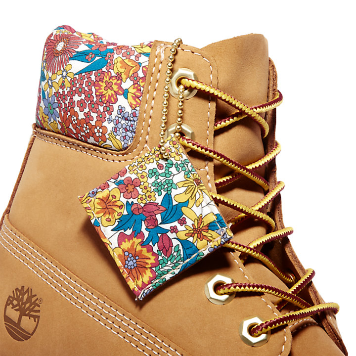 Timberland Made with Liberty Fabrics 6 Inch Boot for Women in Yellow-