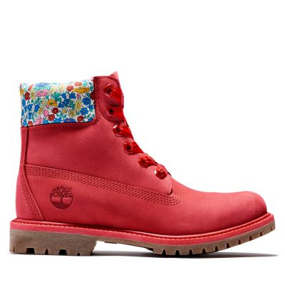 Timberland+Made+with+Liberty+Fabrics+6+Inch+Boot+for+Women+in+Red