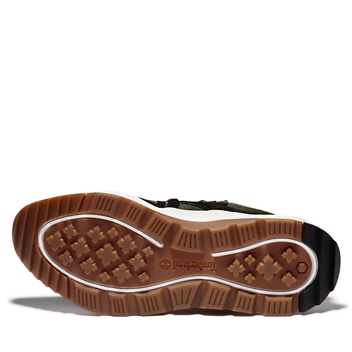 Madbury Leather Sneaker for Men in Dark Green-