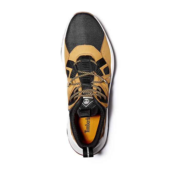 Madbury Leather Sneaker for Men in Black/Yellow-