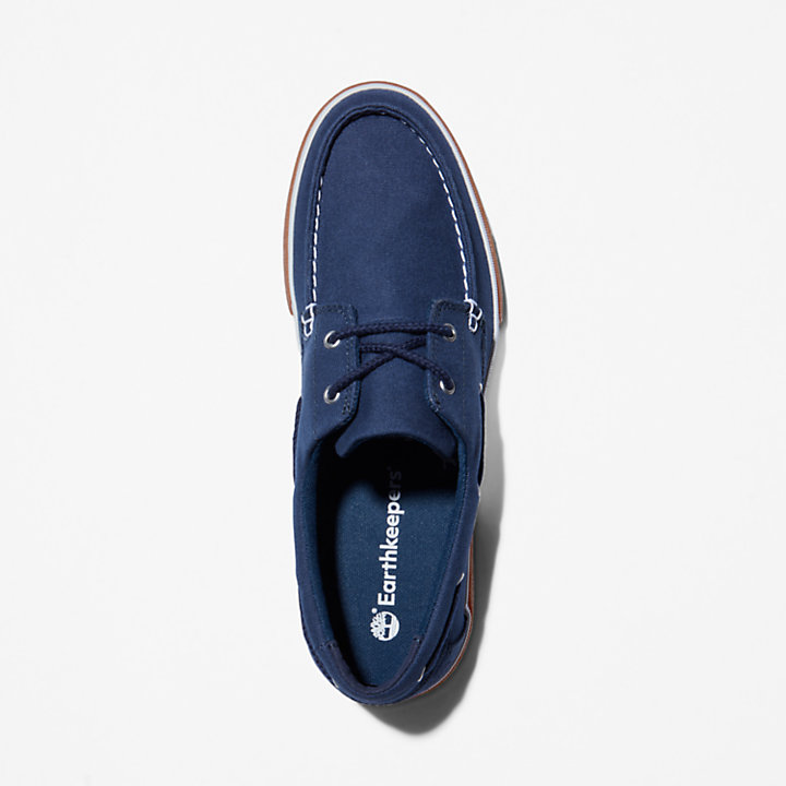 Union Wharf 2.0 EK+ Boat Shoe for Men in Navy-