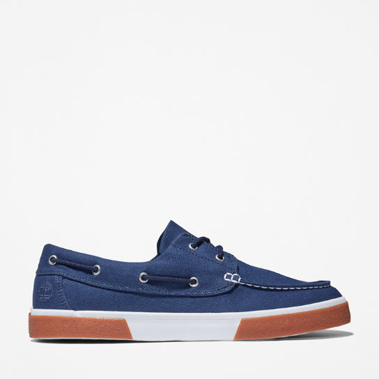 Union Wharf 2.0 EK+ Boat Shoe for Men in Navy | Timberland