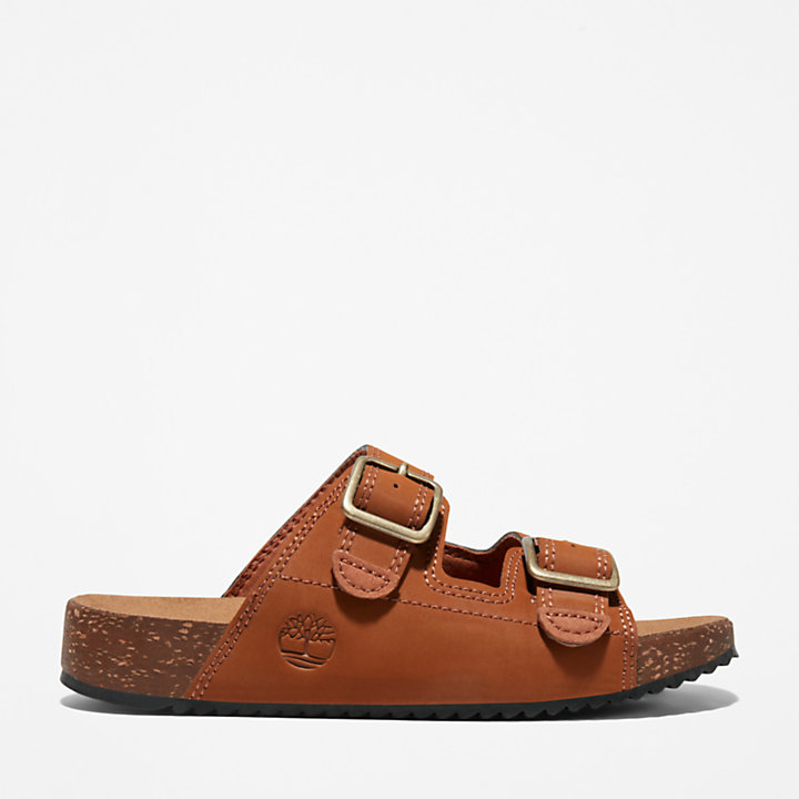 Castle Island Slide Sandal for Junior in Brown-