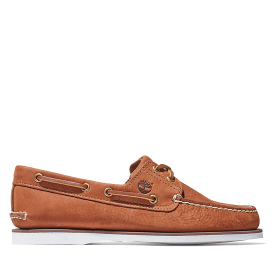 Classic Nubuck Boat Shoe for Men in Light Brown | Timberland