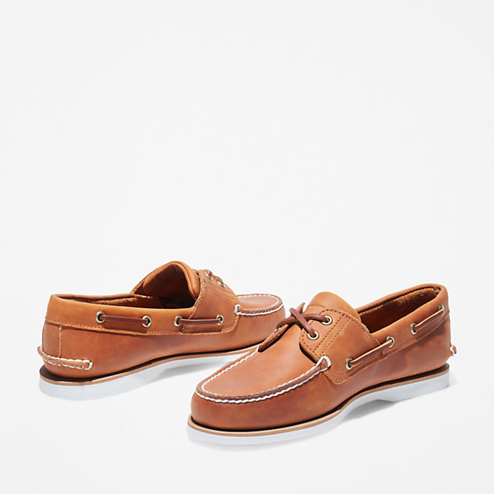 Classic Boat Shoe for Men in Orange-