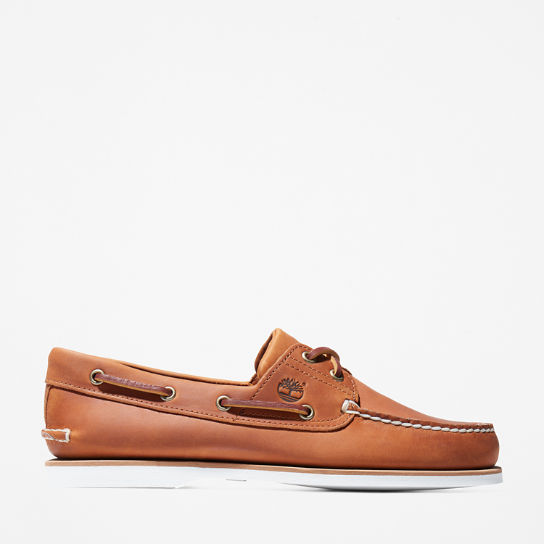 Classic Boat Shoe for Men in Orange | Timberland