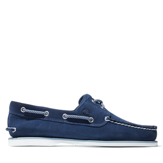 Classic Suede Boat Shoe for Men in Navy | Timberland