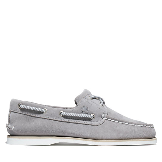 Classic Suede Boat Shoe for Men in Grey | Timberland