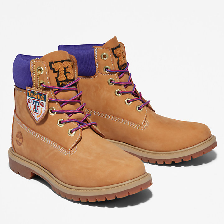 Timberland® Heritage 6-Inch-Stiefel für Damen in Gelb/Violett-