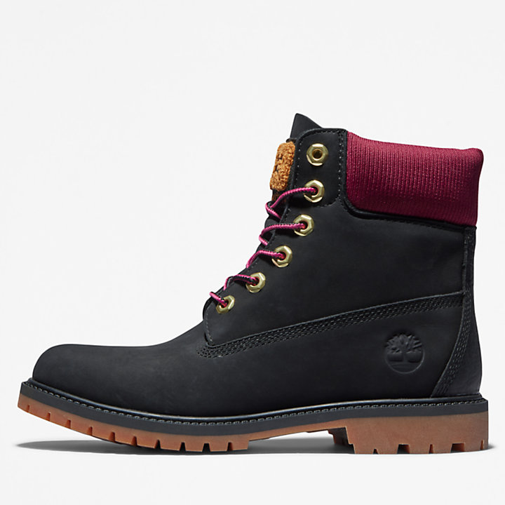 Timberland® Heritage 6 Inch Boot for Women in Black/Pink-