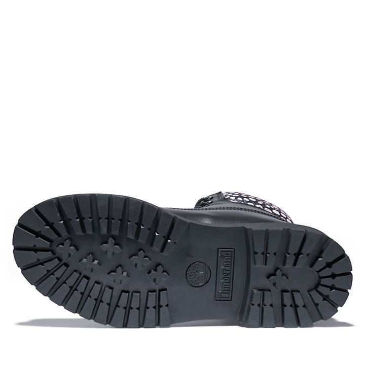 6-Inch Boot Heritage pour femme en noir/rose-