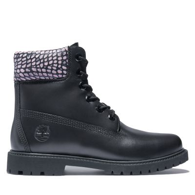 Heritage+6+Inch+Boot+for+Women+in+Black%2FPink