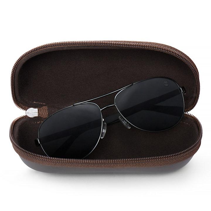 Metal Aviator Sonnenbrille für Herren in Schwarz-