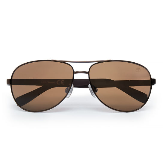 Metal Aviator Sunglasses for Men in Brown | Timberland