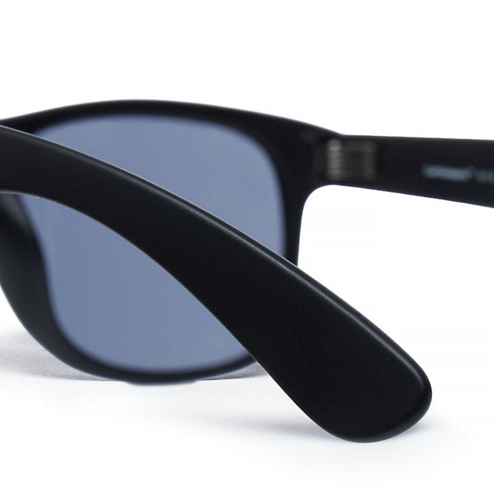 Lunettes de soleil voyageur rétro durables pour homme en noir-