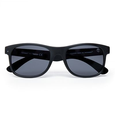 Retro+Sustainable+Wayfarer+Sunglasses+for+Men+in+Black