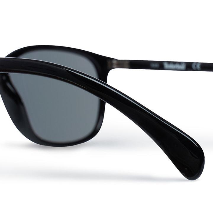 Lunettes de soleil vintage pour homme en noir-