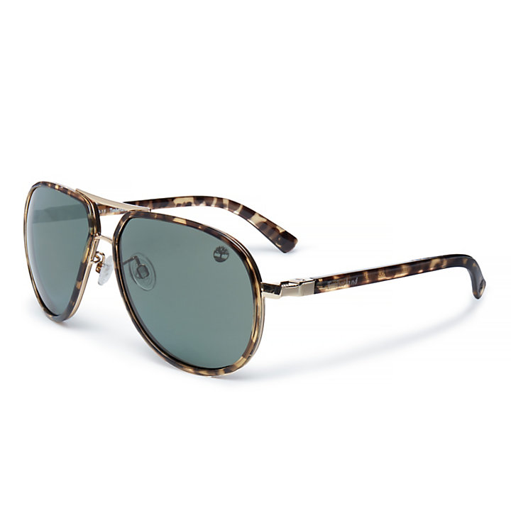 TR90 Aviator Sunglasses for Men in Brown-