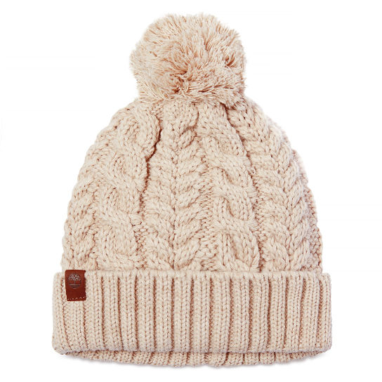 Cable Watch Cap with Pom para mujer | Timberland
