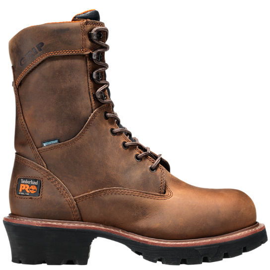 "Men's Timberland PRO® Rip Saw 9"" Steel Toe Waterproof Logger Boots"