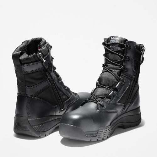 Men's Timberland PRO® Valor™ Duty 8-Inch Waterproof Side-Zip Comp-Toe Boots-
