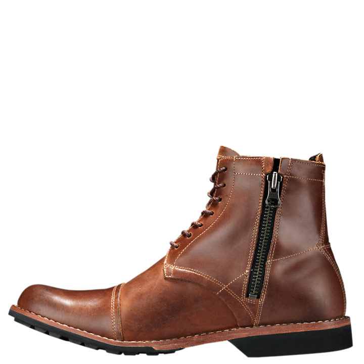 Timberland Men's City 6 Inch Side Zip Boot,Burnished Tan,9 M