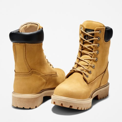 "Men's Timberland PRO® Direct Attach 8"" Steel Toe Boots-"