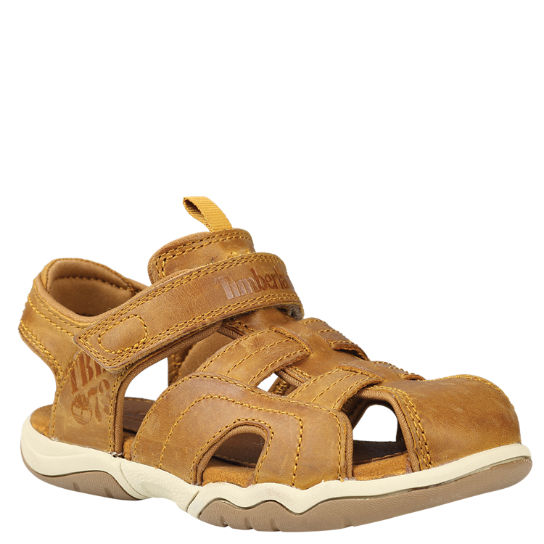 Youth Oak Bluffs Leather Fisherman Sandals
