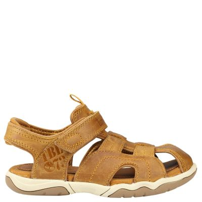 Junior Oak Bluffs Leather Fisherman Sandals