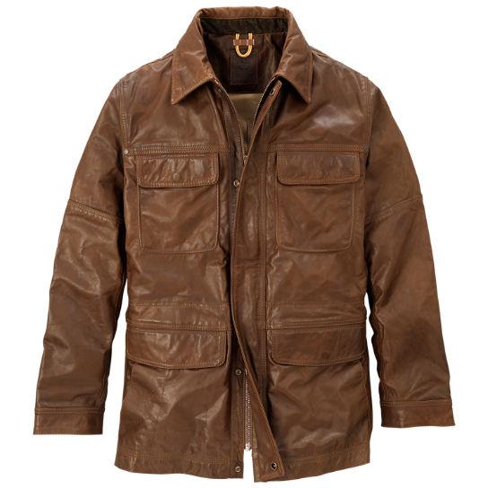 Men S Abington Leather Field Coat Timberland Us Store