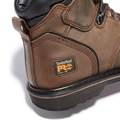 "Men's Timberland PRO® Pit Boss 6"" Steel Toe Work Boots-"