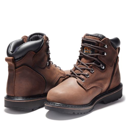 "Men's Timberland PRO® Pit Boss 6"" Soft Toe Work Boots-"