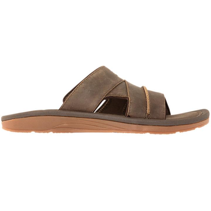 timeless design fb44e 11063 Men s Leather Slide Sandals-