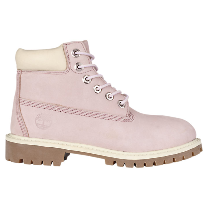 Shop Timberland 6 in WP Faux Shearling Boot Youth Round Toe