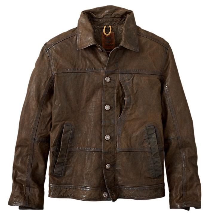Men's Tenon Leather Bomber Jacket-