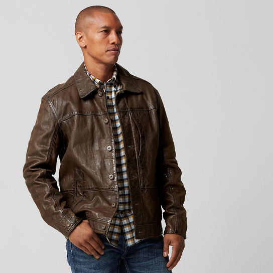 Timberland | Men's Tenon Leather Bomber Jacket