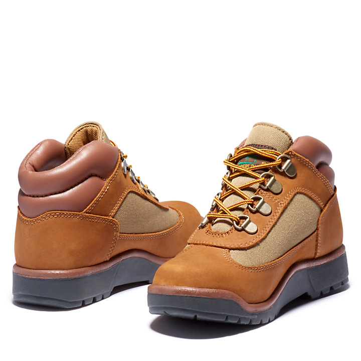 Junior Leather/Fabric Mid Field Boots-
